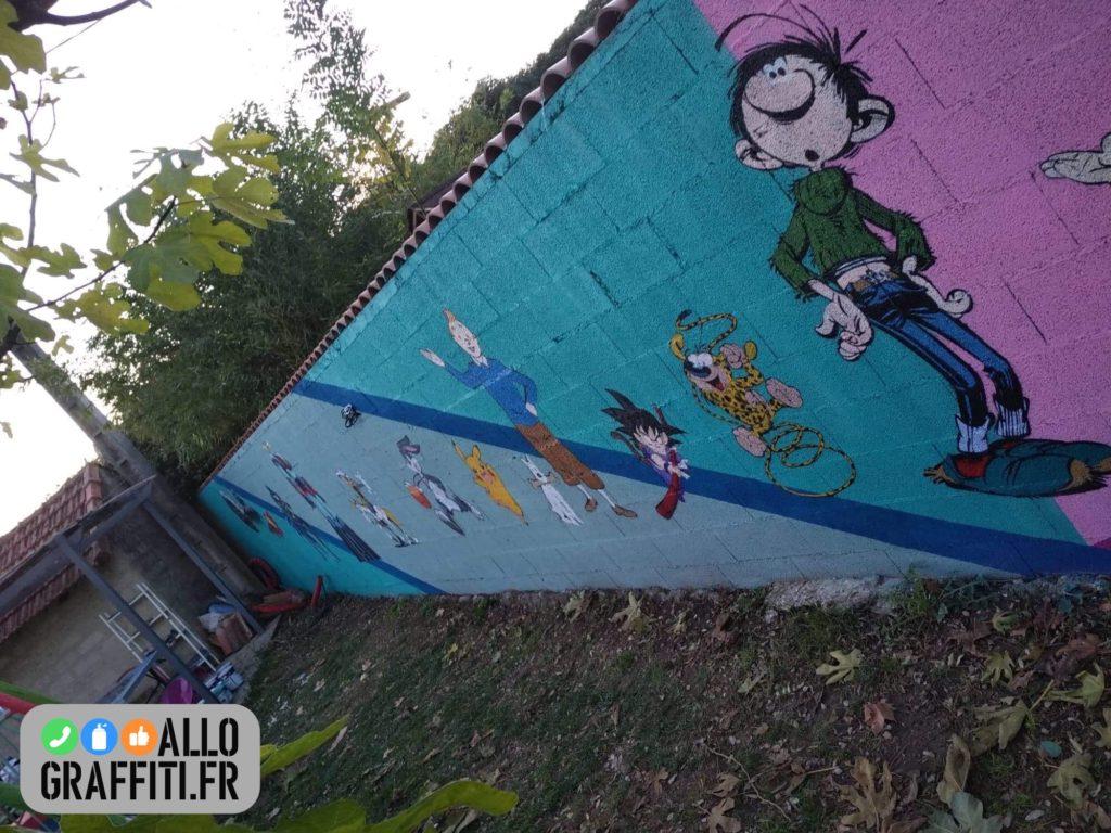 Fresque graffiti côté garçon