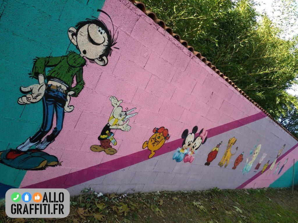 Fresque graffiti côté fille
