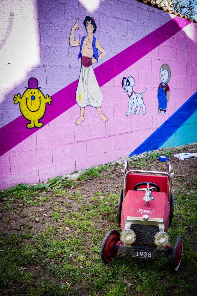 Extrait fresque graffiti  cartoon